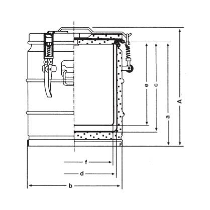 Portessa Speisetransportbehälter | Abmessung, Zeichnung